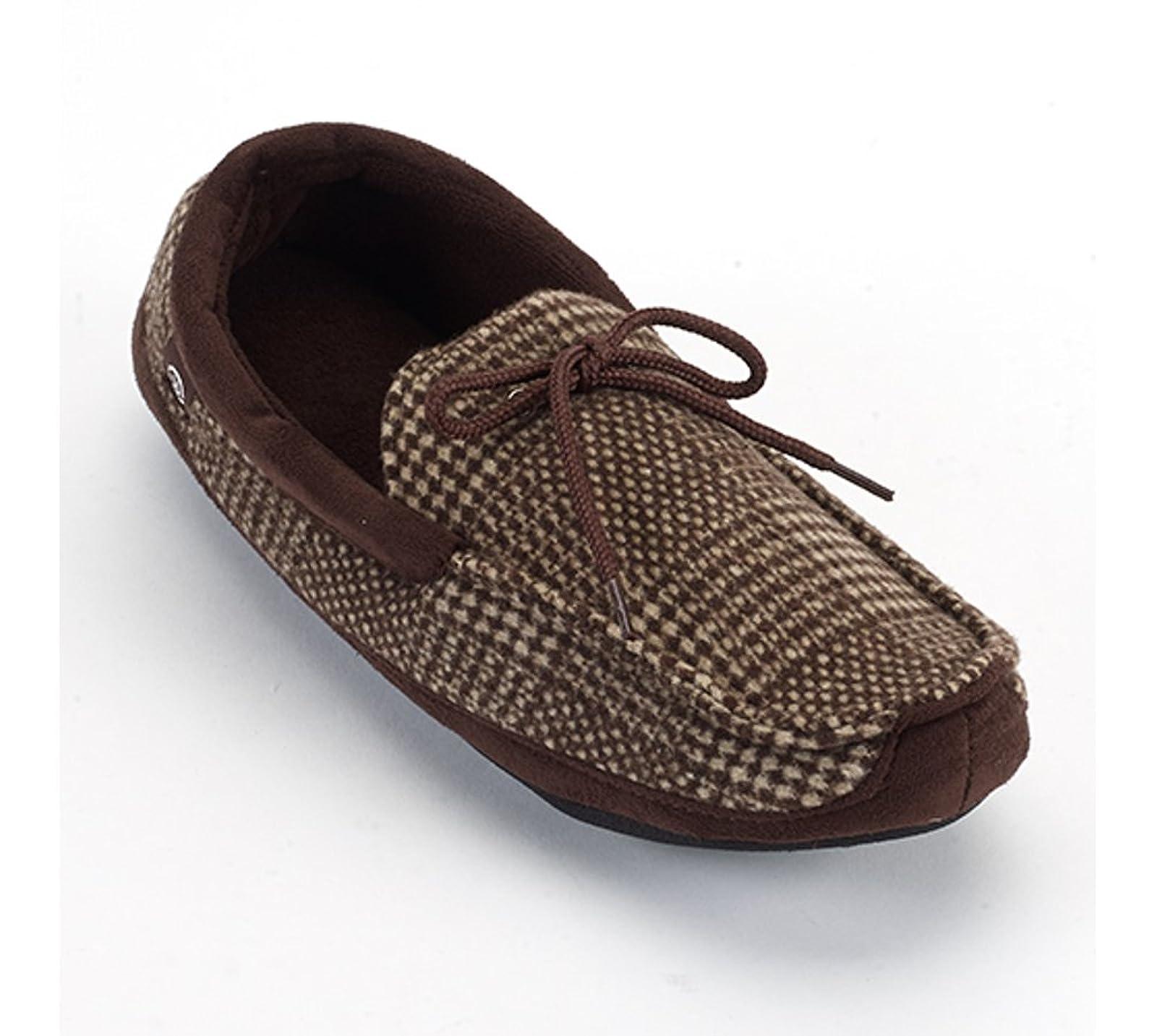 ISOTONER Men's Microsuede Boater Moc Slippers ( - 1