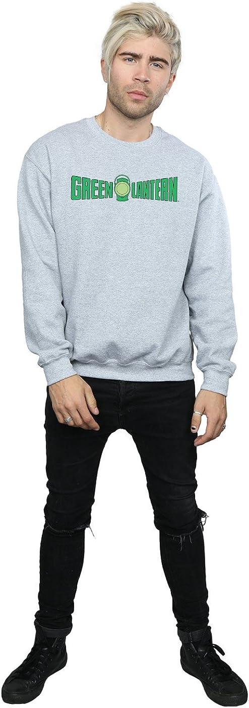 DC Comics Herren Green Lantern Text Logo Sweatshirt Sport Grey