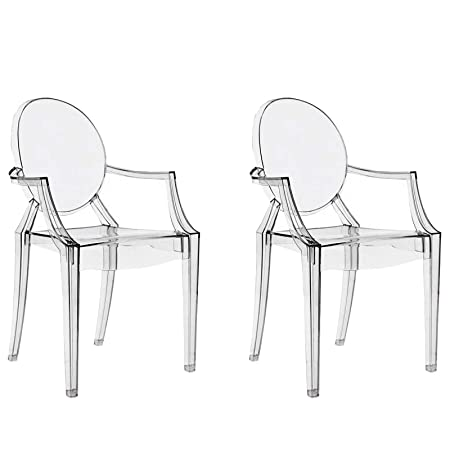 Sedie Trasparenti Seconda Scelta.Chairs4you Set Di 2 Sedie Trasparenti Inspirees Louis Ghost Sala