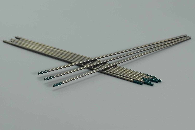 WIG Schwei/ßen Pure Wolfram Elektrode gr/ün 10 St/ück 1//16 x6 /& 1,6x150mm 10pk