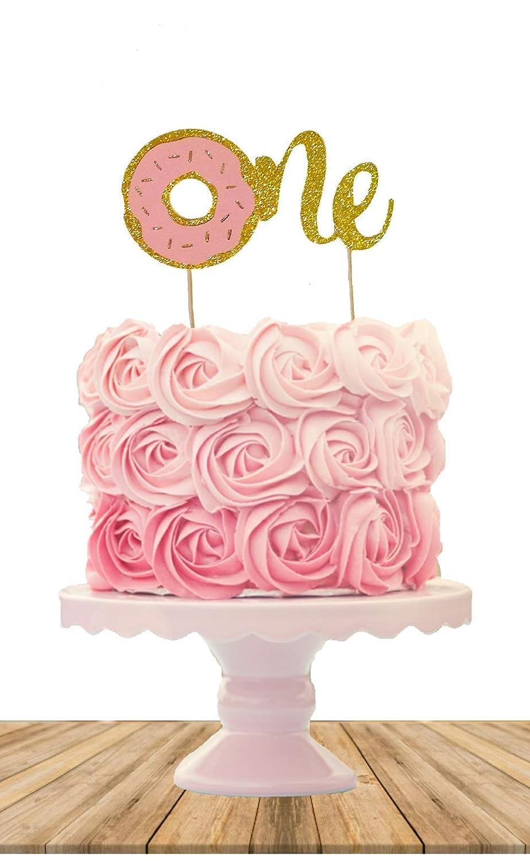 Tremendous Amazon Com One Donut Cake Topper Donut Cake Topper Smash Cake Birthday Cards Printable Inklcafe Filternl