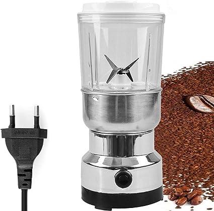 Molinillo De Hierbas Y Especias Acero Inoxidable Electric Grain Grinder Herb Pulverizer Grinder 2-in-1 Household Superfine Grinding Powder Machine Powerful Coffee Grinder Molinillo De Cafe Electrico