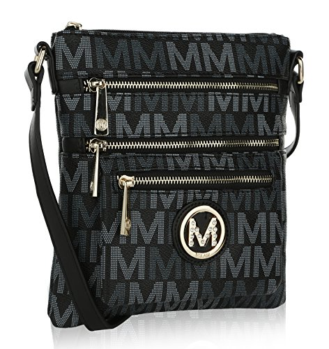 K Beatrice M Black Compartments Crossbody Multi by MKF Farrow Signature Mia Collection ZwqA5zEz