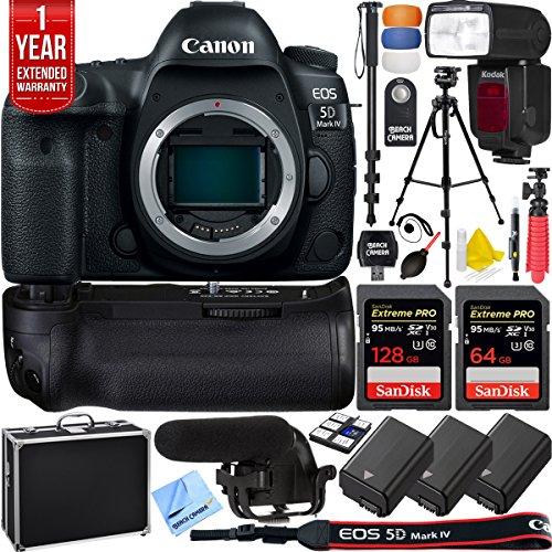 Canon 5D Mark IV EOS 30.4MP Full Frame DSLR Camera Pro Memory Triple Battery & Grip SLR Video Recording Bundle - Newly Released 2018 Beach Camera Value Bundle (SLR Video Recording Bundle)