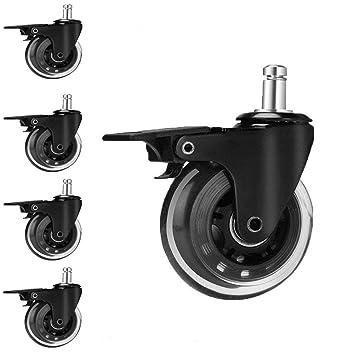 Ouyi 5pcs Roulettes Remplacement 10mm Pour Ikea Chaise De Bureau Roulement Silencieux Et Résistantes à L Abrasion Pour Sols