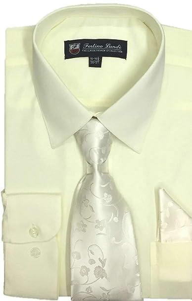 Amazon.com: Fortino Landi - Camisa de vestir para hombre con ...