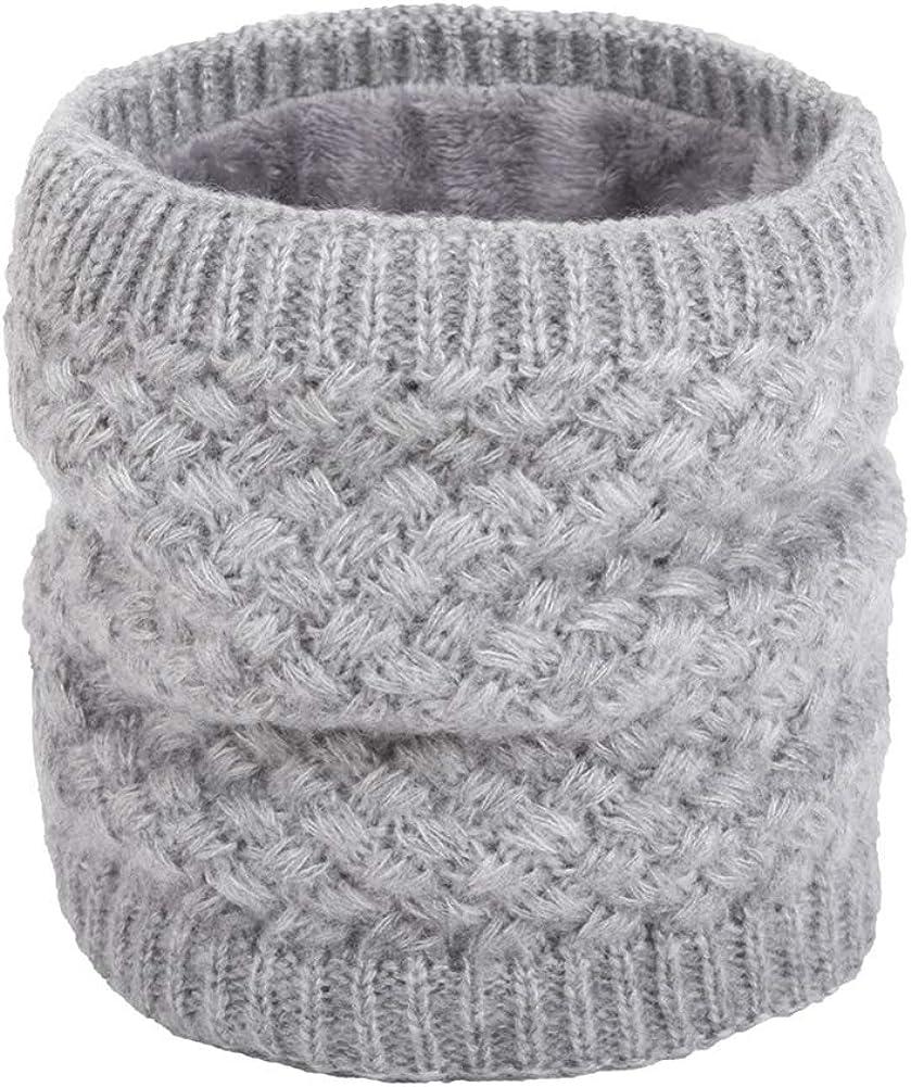 vwlvrsco Winter Autumn Women Men Solid Color Geometric Woolen Knitted Collar Scarf Warm Pullover Neckerchief Neck Warmer