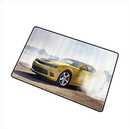 Amazon com : Jbgzzm Outdoor Door mat Cars Decor Racer Sports