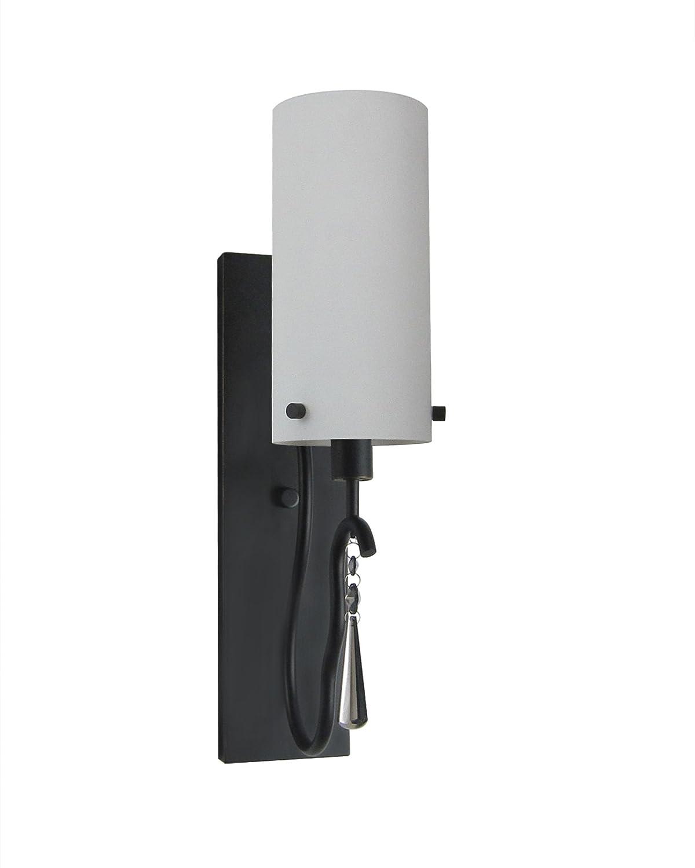 Woodbridge Lighting 14241BLK-M10PUR 14241BLK Haley 1-Light Transitional Wall Sconce