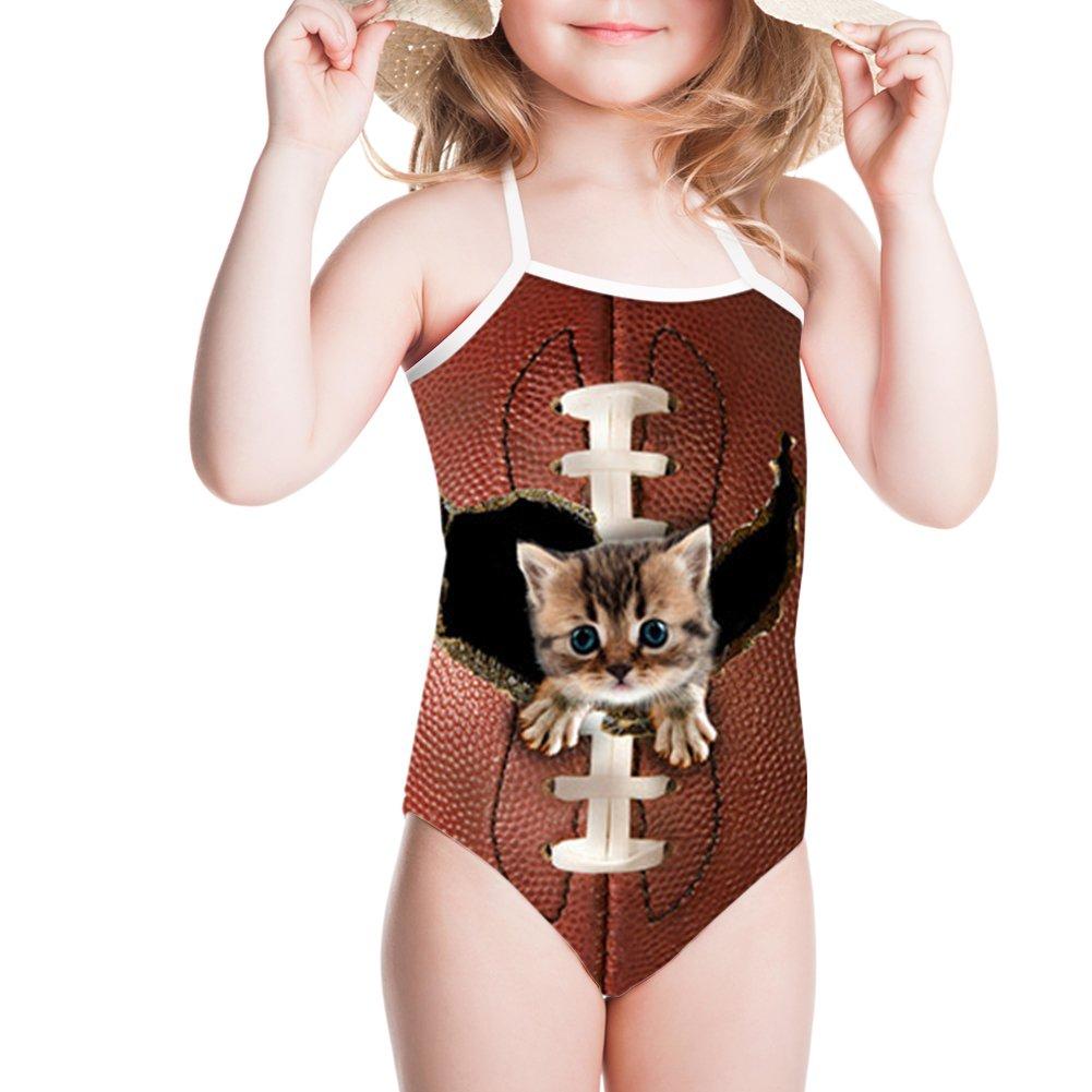 Sannovo 3D Denim Bengal Animal Print Beachwear Wear for Summer Holiday Fitness 3T-4T