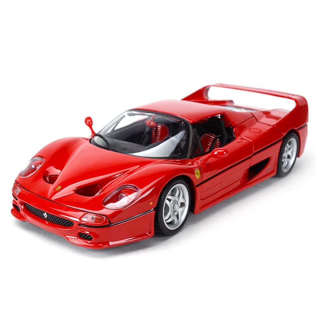 barato RENJUN Modelo de Coche 1 18 18 18 Ferrari F50 simulación de aleación de fundición a presión Juguetes Adornos colección de Coches Deportivos joyería 25x10x7CM  excelentes precios