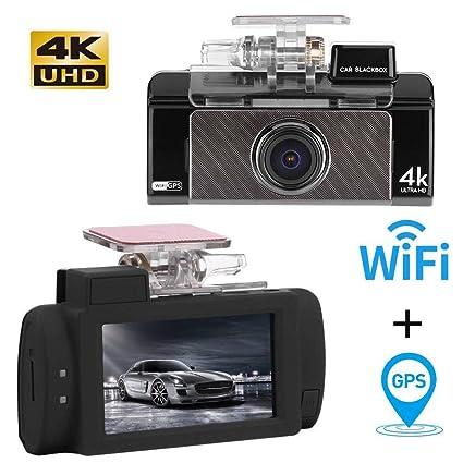 4K In Vehicle Car Dash Cam DVR HD 1080P Video Camera Recorder G-sensor GPS Wifi