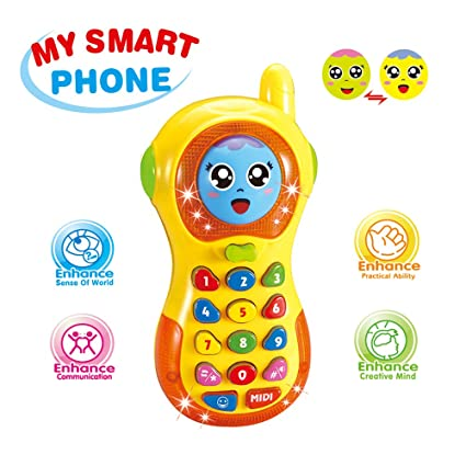 Amazon Com Baby Phone Toy 3 12 Months Baby Phone Toy 6 9 Month Old