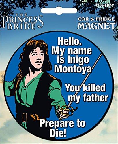 Ata-Boy The Princess Bride Die-Cut Inigo Montoya Magnet for Cars, Refrigerators and Lockers