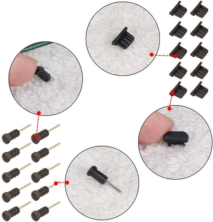 YZYP 5//10 Set Micro auf USB-Design Port Plug /& 3.5 mm Kopfh/örer Jack Anti Dust Plug Handy Staubschutz f/ür Android Handy Schutz von Splashes 5 PCS, wei/ß Schmutz /& Lint