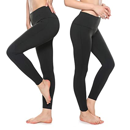 4cdae65bafeb2 KT Tummy Control Yoga Leggings - High Waisted Gym Workout Leggings - Womens  Fitness Pants with
