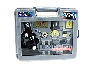 Teorema satz 70842 u2013 koffer mit mikroskop aus metall: amazon.de