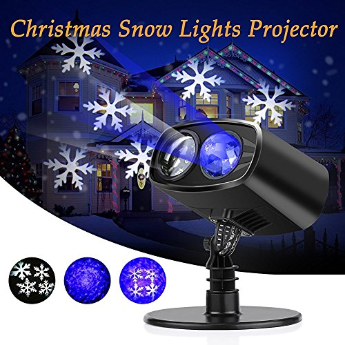(Christmas Projector Lights, LED Projector Light Waterproof Snowflake Christmas Lights Outdoor for Valentine's Day Birthday Wedding Theme Party Garden Home Outdoor Indoor Decor)