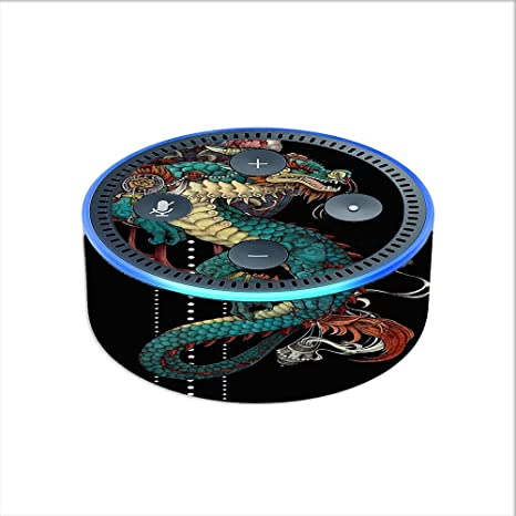 73e15bc14 Image Unavailable. Image not available for. Color: Skin Decal Vinyl Wrap  for Amazon Echo Dot 2 (2nd generation) / Dragon Japanese