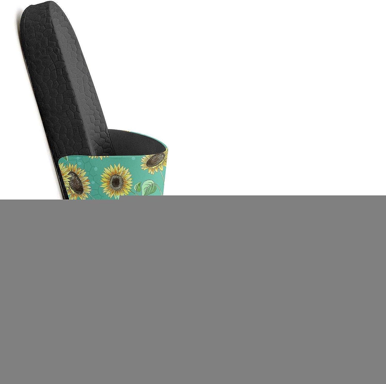 Men Slipper Vintage Sunflowers Colorful Lightweight Open Toe Flat Sports Slide Slides Shoes