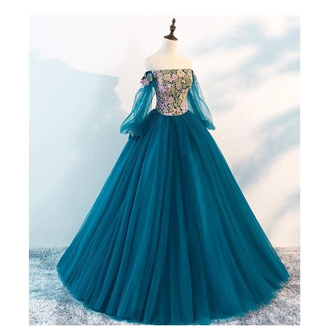QAQBDBCKL Vestido escénico Vestido de Fiesta del Siglo XVIII ...