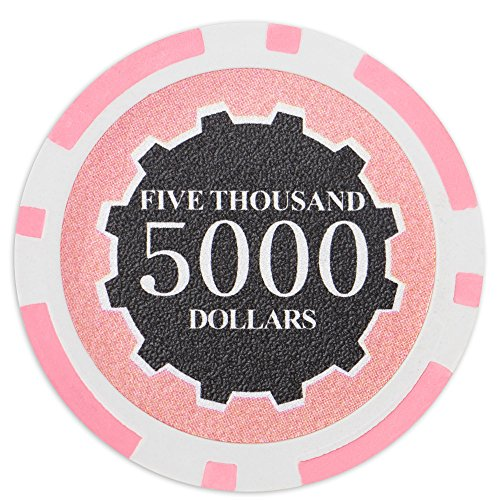 Brybelly Eclipse Poker Chips Heavyweight 14-gram Clay Composite - Pack of 50 ($5000 Pink)