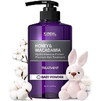 KUNDAL Honey & Macadamia Hydro-Intensive Protein Premium Nature Hair Treatment 500ml (Baby Powder)