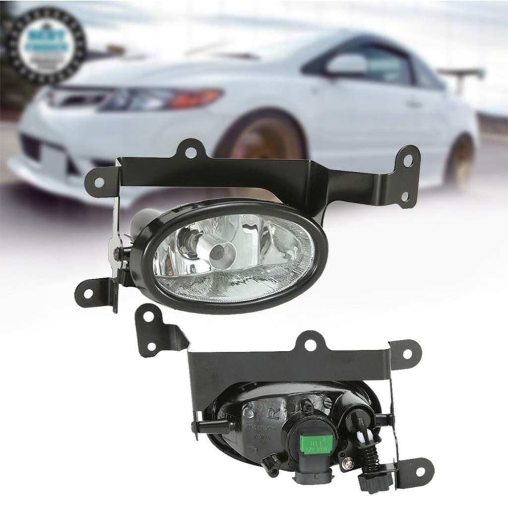 Arrowsy Clear Lens Bumper Lamps Fog Lights + Switch for Honda Civic 2Dr Coupe 2006-2008- US Stock by Arrowsy