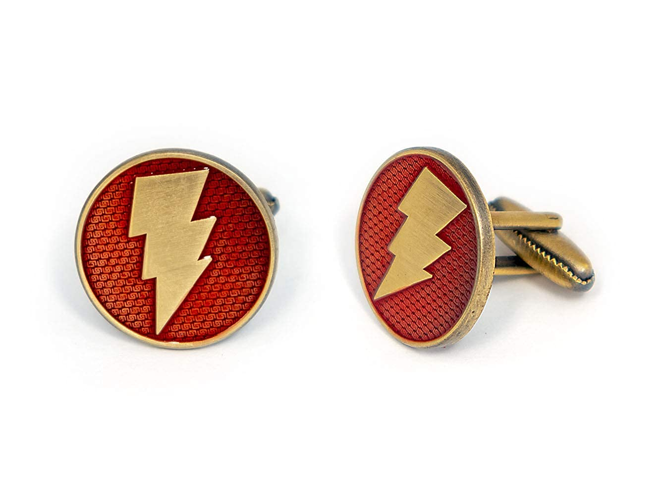 Shazam Cufflinks Captain Marvel Tie Clip Nightwing Cuff Links Link Wedding Party Gift DC Comics Batman vs Superman Tie Tack Jewelry Justice League Avengers Groomsmen Gifts Captain Marvel Cufflinks SharedImagination