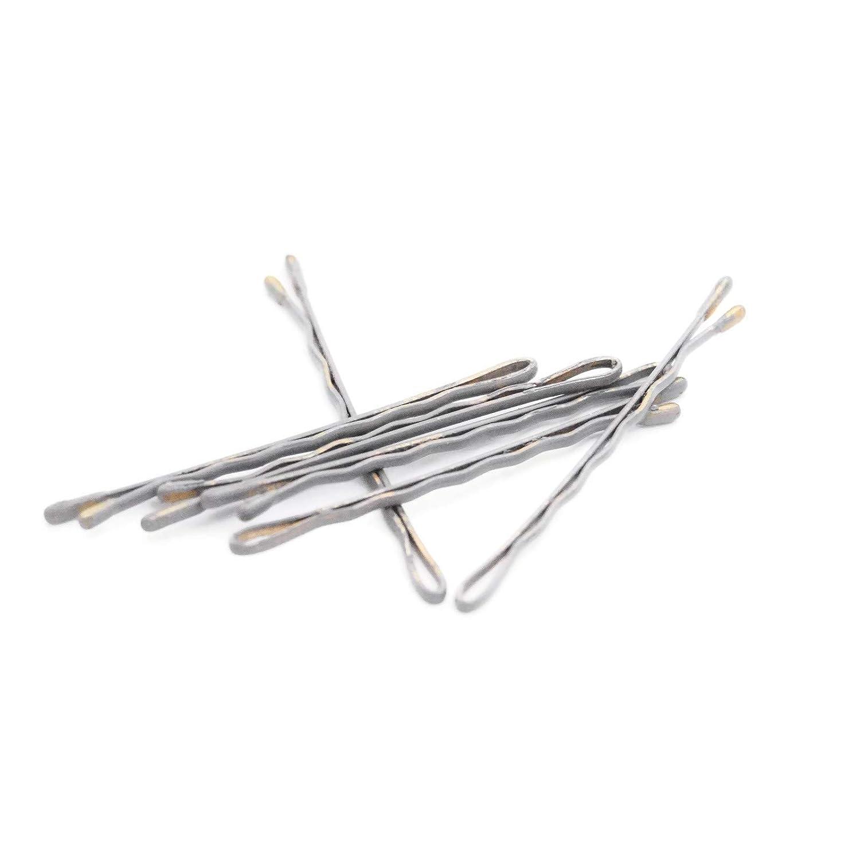 Grey colored bobby pins