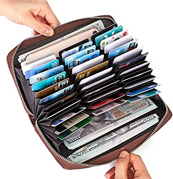 Buvelife RFID Credit Card Leather Wallet