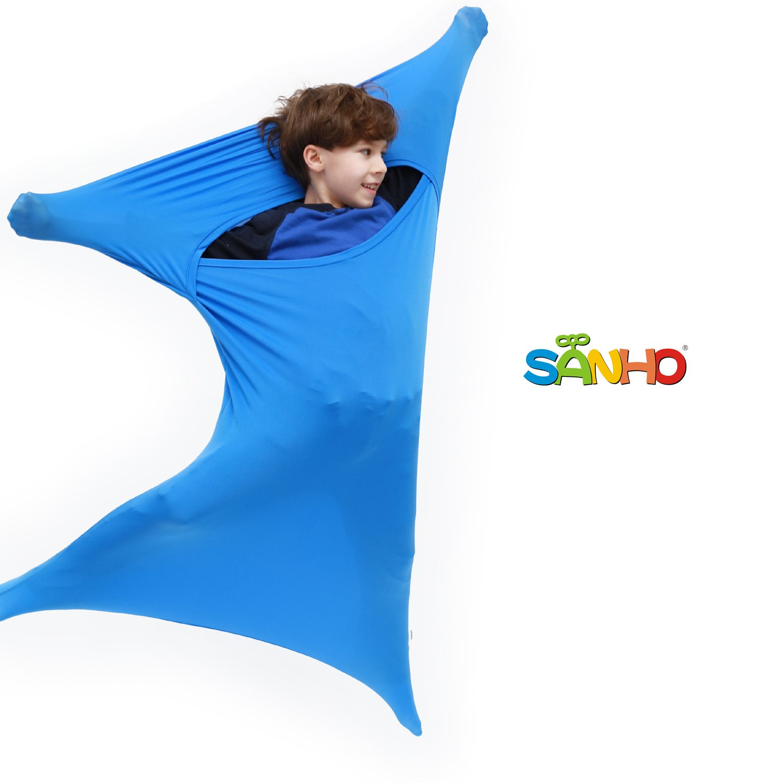 Sanho Premium Sensory Sock, Updated Version, Medium, 50'' L x 24'' W, Good for height:47''- 63'' Blue by Sanho