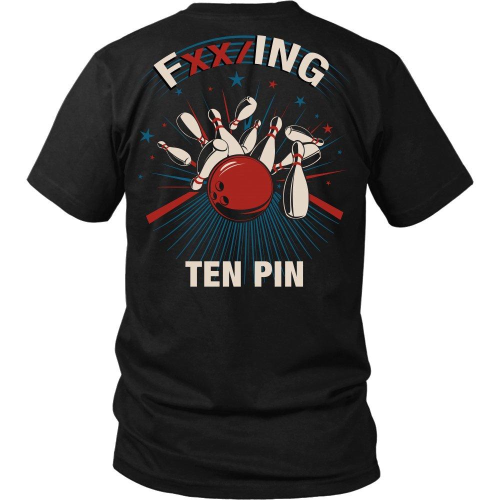 FXX/ing Ten Pin - Bowling Shirt Apparel (Small, Black)