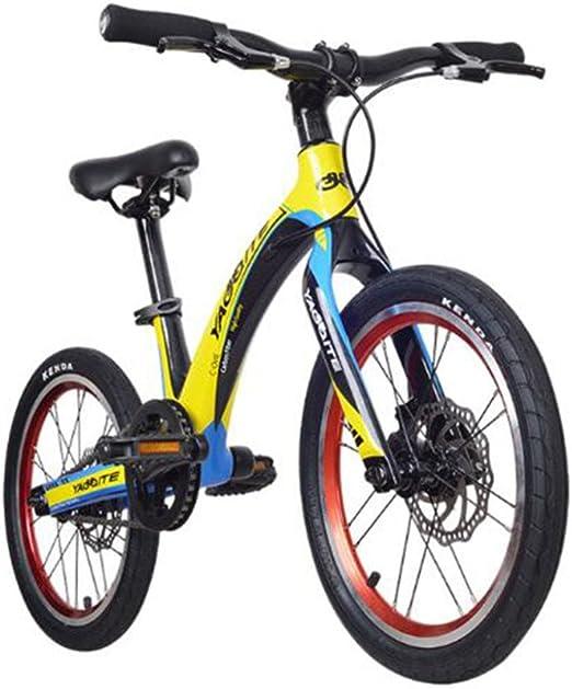 HUALQ Bicicleta Bicicleta de Fibra de Carbono Ligera Niños 16 ...