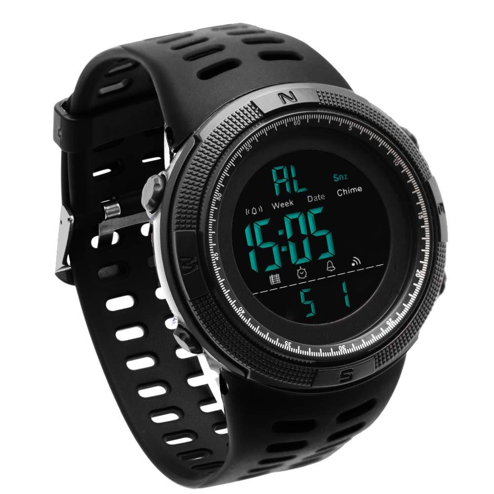 JOYSAE Sport Wrist Watch,Men's Fashion Watches Outdoor Electronic Water Resistant Watch Black