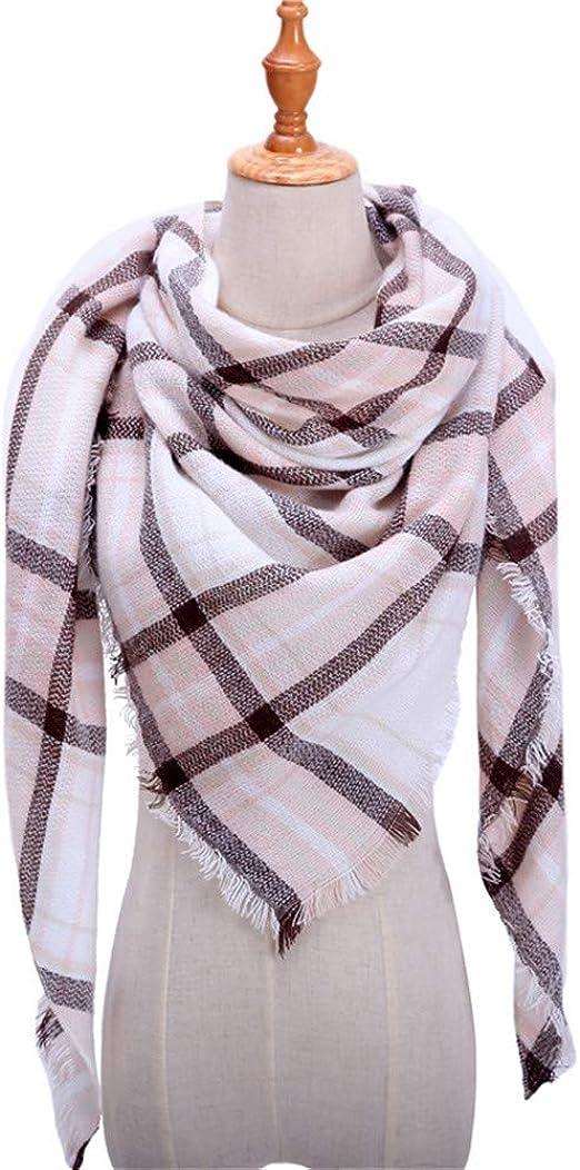 AiNaMei Hombres y mujeres otoño e invierno imitación cachemir triángulo toalla pareja cálida mantón