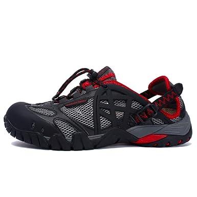 YIWANGO Zapatos De Agua De Verano De Malla De Cuero De Secado Rápido Zapatos De Escalada De Gran Tamaño Zapatillas De Deporte Al Aire Libre Senderismo ...