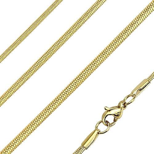 più foto 036a0 08b71 Bungsa Collana Maglia coda di topo Oro Acciaio inossidabile ...