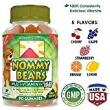 Cheap Nommy Bears Gelatin Free Multivitamin Gummies for Kids & Adults Too | Vegetarian Gummy Vitamins for Men, Women, Children | Gluten-Free, 100% Natural, Non-GMO | Kosher & Halal Friendly | 90 ct