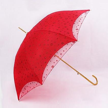bpblgf Paraguas De Encaje De Boda 55 * 8k Doble Encaje Paraguas De Novia Paraguas Rojo