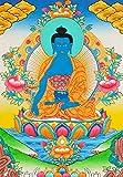 Tibetan Buddhist Medicine Buddha - Tibetan Thangka Painting