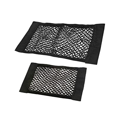 JAVOedge (2 Pack - Medium & Large NET Hook and Loop Adhesive Tape Storage Net Car Accessories Organizers, Car/Truck/RV: Automotive
