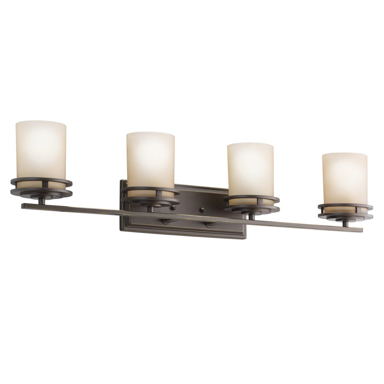 Kichler OZ Bath Light Olde Bronze Vanity Lighting Fixtures - Kichler 4 light bathroom fixture