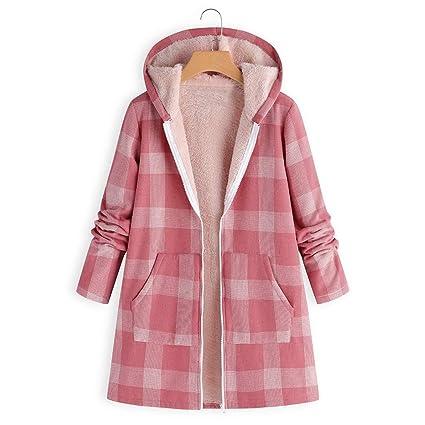 Abrigo Invierno Mujer, Btruely Abrigo de Gran tamaño Vintage Chaqueta con Botones Abrigos Moda de