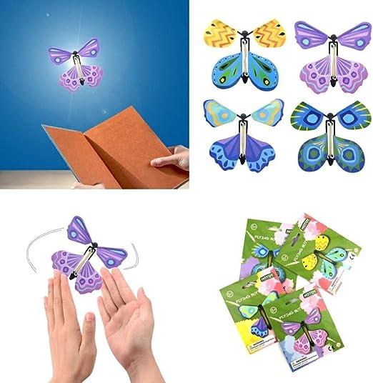 Papillon Surprise 12 Pi/èces Carte de Papillon Volant Magique Papillon Volant Couleur Al/éatoire Cadeaux Surprise Adapt/é aux Cadeaux,Danniversaire /Éducation des Enfants Papillon Magique