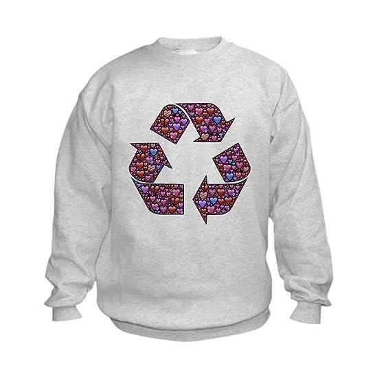 Amazon Truly Teague Kids Sweatshirt I Love To Recycle Symbol