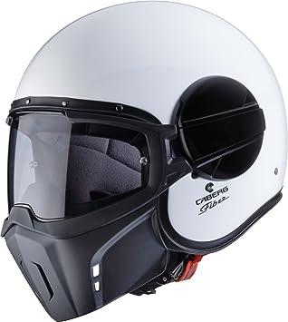 Caberg Ghost Motorrad Jet Helm Weiß Pinlock Visier Maske Chopper Fiberglas ECE22-05, C4FA00A1