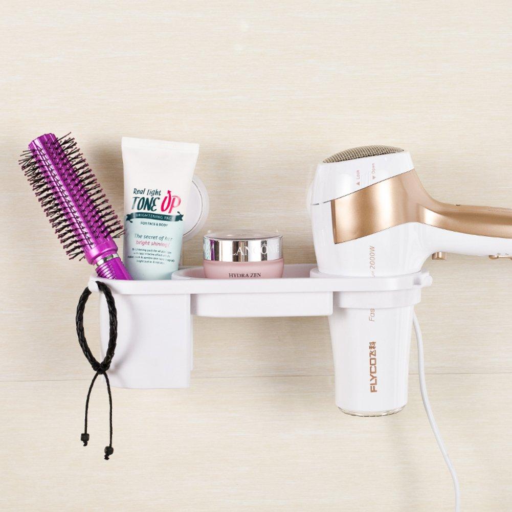 Hair Dryer Holder,Hair Dryer Shelf,Hair Blow Dryer Holder, sucker hair dryer storage rack Shower toilet hair dryer hair dryer Bathroom racks Wall duct-A SDAFASFS