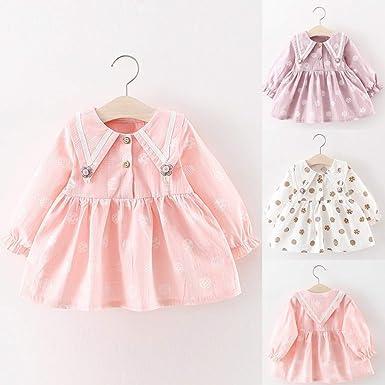 QinMM Vestido Bautizo cumpleaños para 0-24 Meses bebé niñas ...