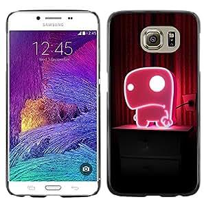 Caucho caso de Shell duro de la cubierta de accesorios de protección BY RAYDREAMMM - Samsung Galaxy S6 - Cute Pink